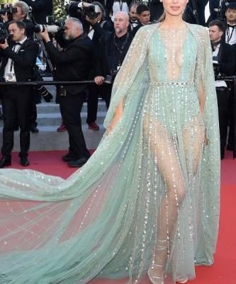 Lara Leito lit up the Red Carpet wearing GEORGES HOBEIKA for