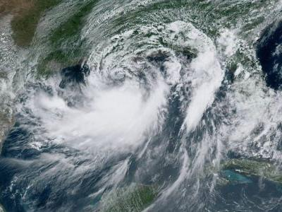 A dramatic satellite photo shows Hurricane Barry enveloping the Gulf of Mexico just before making landfall in Louisiana