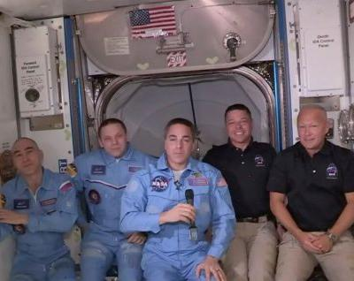 Historic first: SpaceX delivers US astronauts to space station