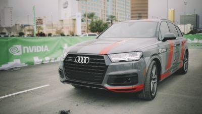 Take a ride with us in a self-driving Audi Q7 using Nvidia autonomous tech