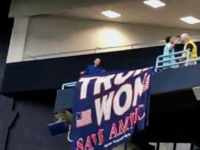 WATCH: Cheers Erupt as Security RIPS 'Trump Won' Flag Down at Major League Baseball Game