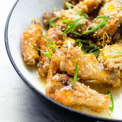 Sticky Lemon Chicken Wings