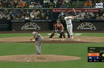 WATCH: Wil Myers, Freddy Galvis go deep in Padres' 8-4 win over Giants