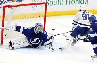Andrei Vasilevskiy ties Lightning saves record in return, Bolts run win streak to 8 by blasting Maple Leafs
