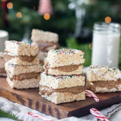 Almond Butter Rice Krispie Treats