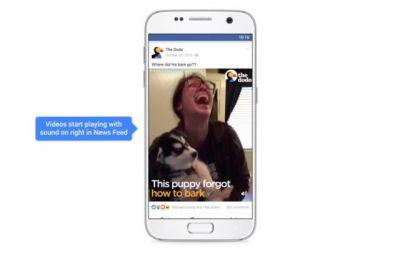 Facebook Videos Will Soon Autoplay With Sound