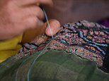 Pictured: The incredible scarf and carpet makers of Kashmir