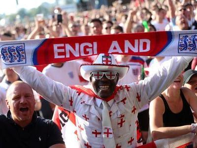 England fans mobilize in their thousands for key World Cup clash
