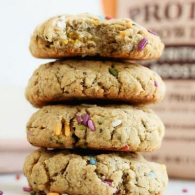 Chai Spiced Vegan Protein Cookies
