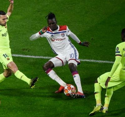 Lyon forward Bertrand Traore rues missed chances against Barcelona