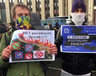 Thousands protest for internet freedom in Russia