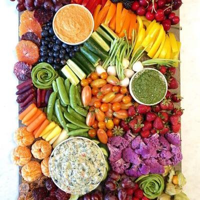 How to Make a Fruit and Veggie Party Platter