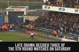 There was plenty of late drama in the FA Cup