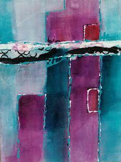 """Acrylic, Contemporary Art, Expressionism, Abstract Painting, """"Blue Sky"""" by Cynthia Berg"""