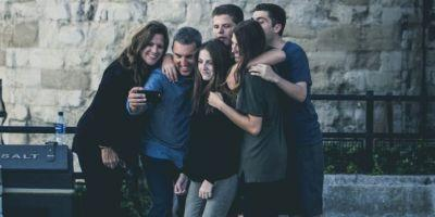 Which awful word will win the race to mean 'group selfies?'
