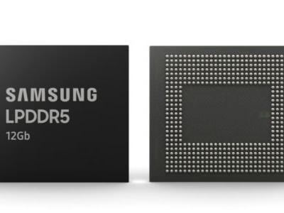 Samsung to mass-produce 12Gb LPDDR5 Mobile DRAM modules