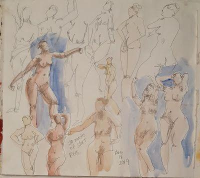 Figure Drawing with Casein