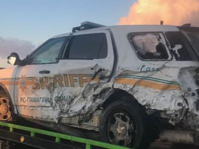 Pottawattamie County deputy injured but OK after being hit by semi
