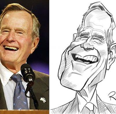 Sketch o'the Week- G.H.W. Bush!