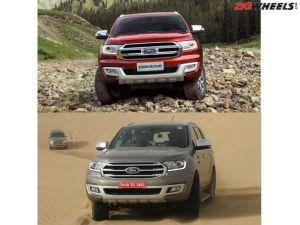 Ford Endeavour Old vs New Specs Photos and Feature Comparison