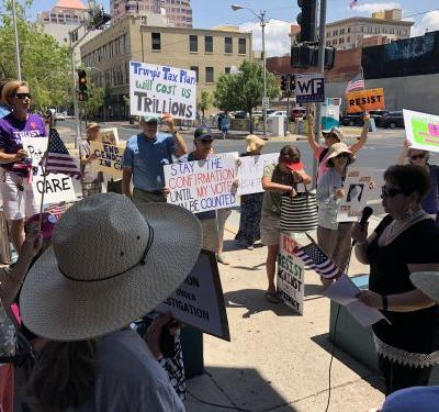 Albuquerque protesters rally against Kavanaugh appointment
