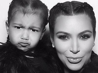 Kim Kardashian 'Got in Trouble' From Kanye for Putting Makeup on Daughter