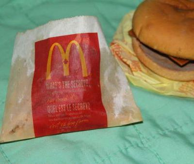 A farmer tried to sell a 6-year-old McDonald's cheeseburger on eBay