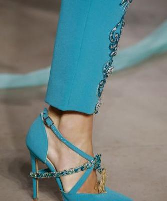 Blue Pumps from the Spring Summer 2018 Couture collection