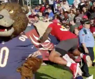 Watch: Jets' Jamal Adams lays out Patriots mascot at Pro Bowl