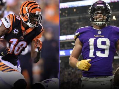 Fantasy Injury Updates: A.J. Green, Adam Thielen, more affecting Week 11 fantasy WR rankings