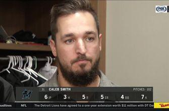 Caleb Smith discusses his start, first career extra-base hit