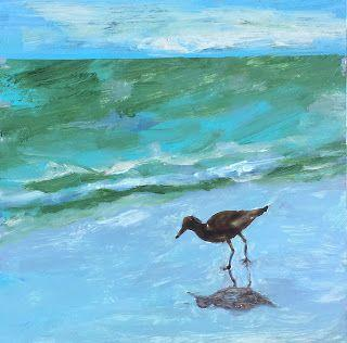 """Contemporary Wildlife Painting, """"Sea Bird,"""" by Amy Whitehouse"""