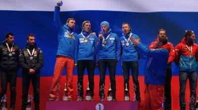 Russian biathletes sing anthem a cappella after blooper at world cup