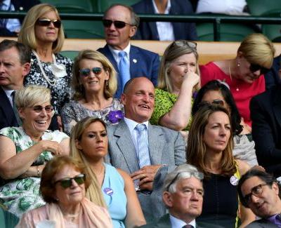 Woody Harrelson's wild reactions at Wimbledon go viral