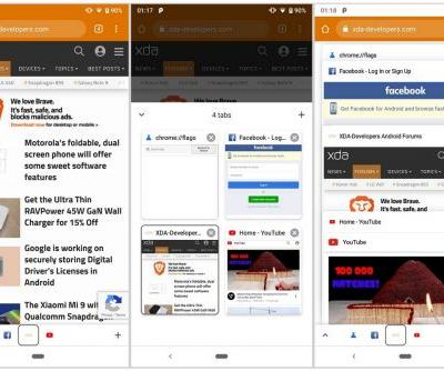 Google Chrome For Android Testing A Tabs Toolbar At The Bottom