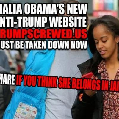 Malia Obama, Former First Daughter, Starting An Anti-President Donald Trump Website Is False