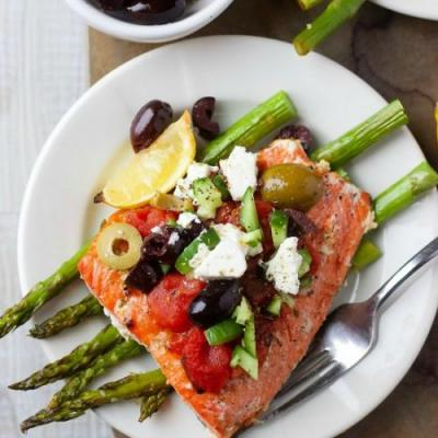 Mediterranean Salmon Low Carb Keto