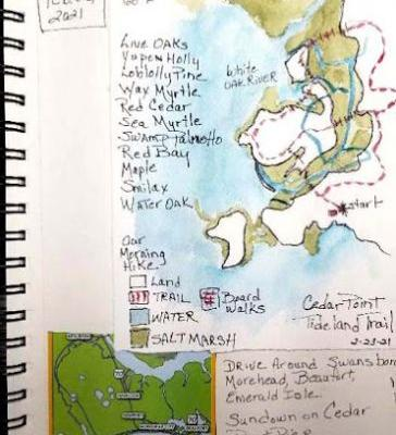 Travel Journal - Tideland Trail - Cedar Point - Croatan National Forest, NC