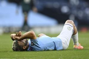 Aguero gives Man City injury scare during 5-0 win vs Burnley
