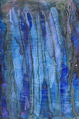 """Original Contemporary Abstract Mixed Media, Alcohol Ink Painting """"Old Souls"""" by Contemporary New Orleans Artist Lou Jordan"""
