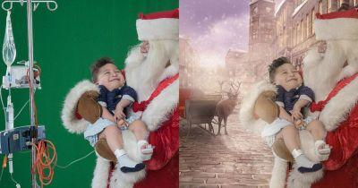Photographer Uses Photoshop to Give Sick Children Magical Santa Photos