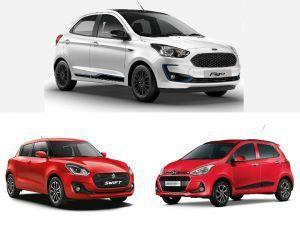 2019 Ford Figo Facelift vs Maruti Suzuki Swift vs Hyundai Grand i10 Facelift Specifications Comparison