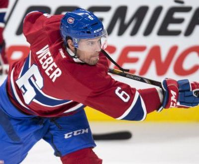 Montreal Canadiens' Weber out until December after knee surgery