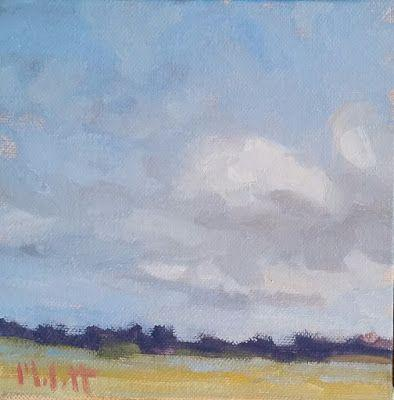 Contemporary Impressionism October Clouds Original Oil Painting