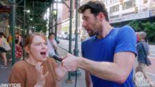 Emma Stone Hits The Streets With Billy Eichner And Shares Her Horror Movie Face
