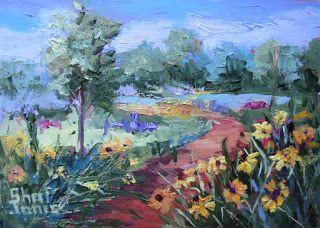 On the Sunny Side, New Contemporary Landscape Painting by Sheri Jones