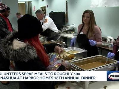 Hundreds of families in Nashua get Thanksgiving dinner at Harbor Homes