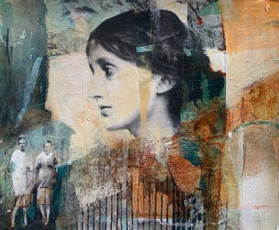"Mixed Media Figurative Art, Contemporary Art, Portrait, Fine Art For Sale ""A SIGNIFICANT HISTORY"" by Intuitive Artist Joan Fullerton"