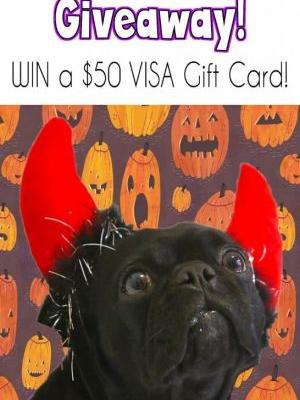 Trick or Treat Giveaway- Win a $50 VISA Gift Card