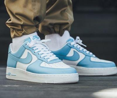 Here's an On-Foot Look at the UNC-Inspired Nike Air Force 1